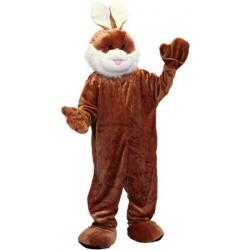 Mascotte lapin brun