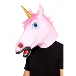 Masque licorne rose