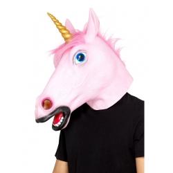Masque licorne rose