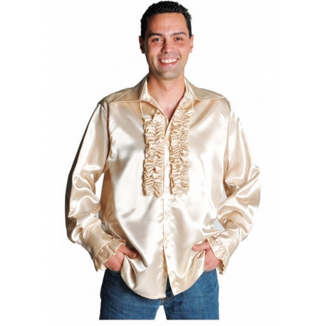 Chemise disco champagne
