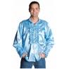 Chemise disco bleu ciel