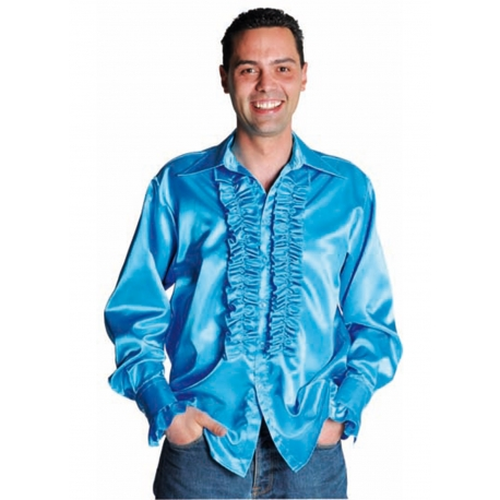 Chemise disco bleu