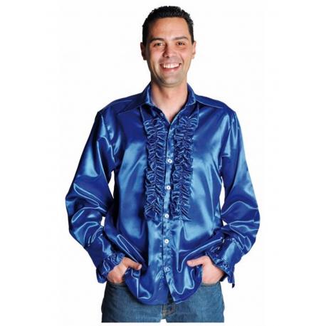 Chemise disco bleu foncé