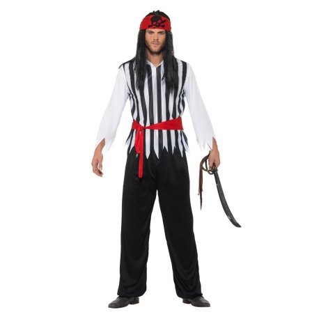 Pirate homme rouge