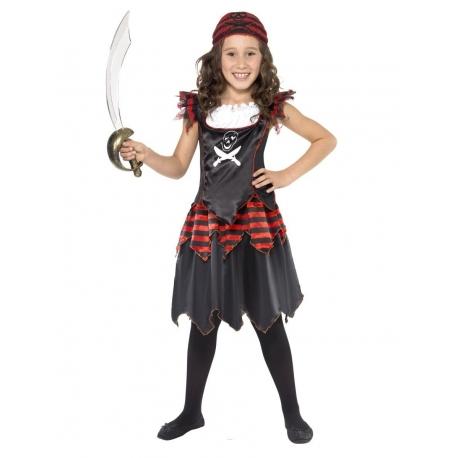 Pirate fille tete de mort