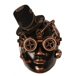 Masque steampunk chapeau