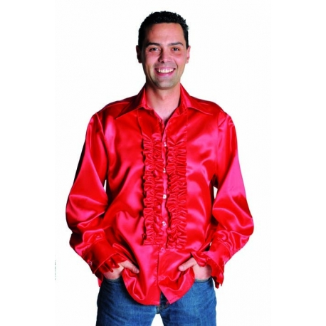 Chemise disco homme rouge