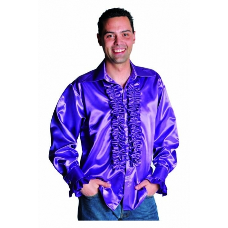 Chemise disco homme mauve