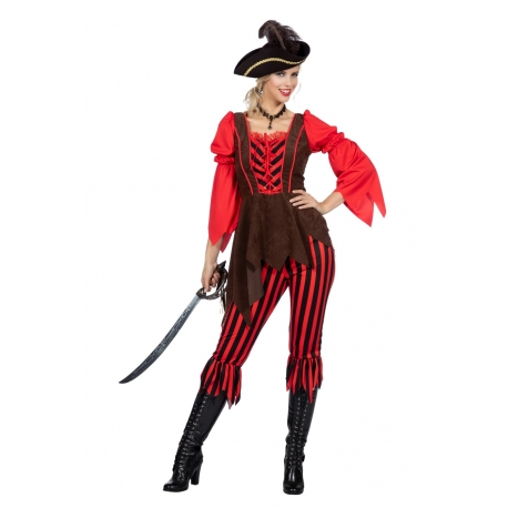 Pirate brun rouge