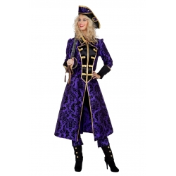 Manteau pirate mauve