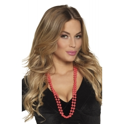 Collier a perles rouge