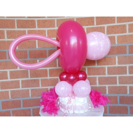 Montage ballon tetine pampers