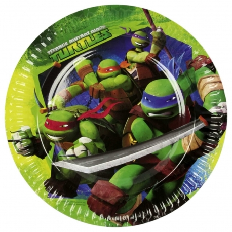 Assiettes tortue ninja grande