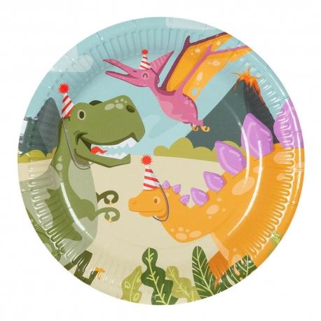 Assiette dinosaure en carton