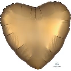 Ballon décoratif coeur or