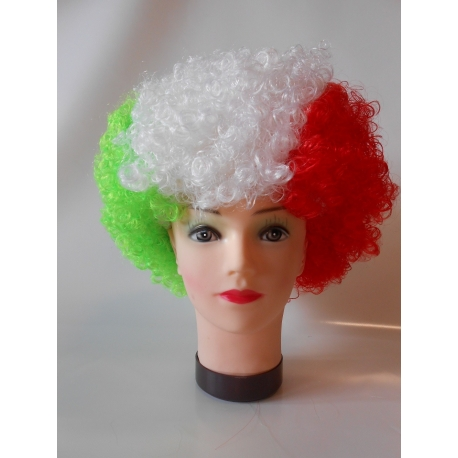 Perruque supporter italienne