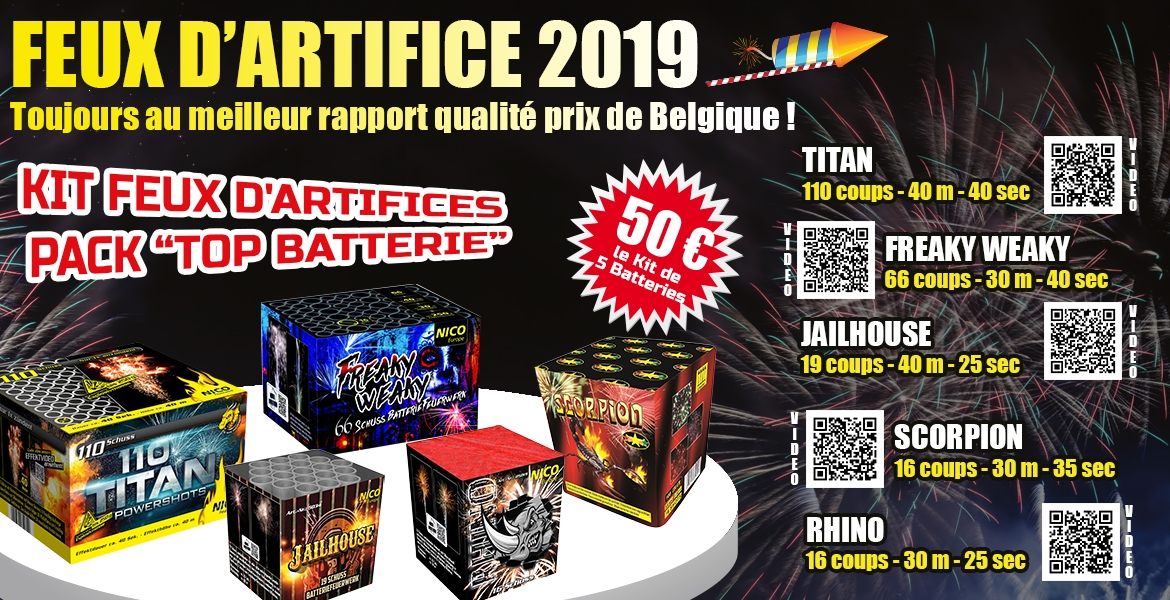 Kit Artifices batteries  50 euros